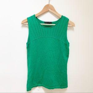 Antonio Melani green knit blouse S